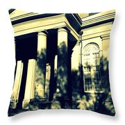 Charleston Church In Black And White Throw Pillow