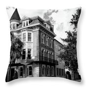 Charleston Corner Charleston Sc Throw Pillow by William Dey