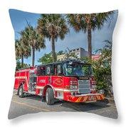 Charleston Fire Dept  Throw Pillow