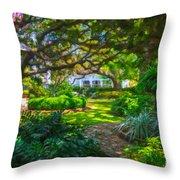 Charleston Sc Gardens Throw Pillow