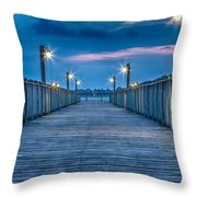 Charleston Harbor Throw Pillow