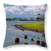 Charleston Harbor Throw Pillow