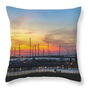 Charleston Harbor Sunset Throw Pillow
