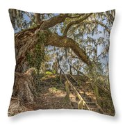 Charleston Oak Stairway Throw Pillow
