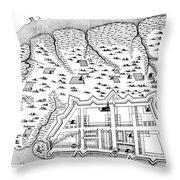 Charleston: Plan, 1704 Throw Pillow