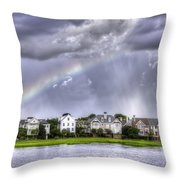 Charleston Rainbow Homes Throw Pillow