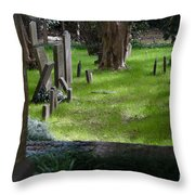 Charleston Sc Graveyard Throw Pillow