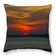 Charleston Sc Sunset Throw Pillow
