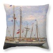 Charleston Ships Throw Pillow