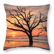 Charleston South Carolina Edisto Island Beach Sunrise Throw Pillow