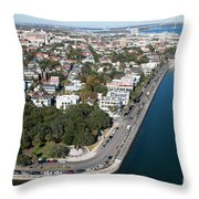 Charleston South Carolina Riverfront Throw Pillow