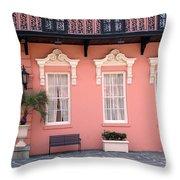 Charleston South Carolina - The Mills House - Art Deco Architecture Throw Pillow