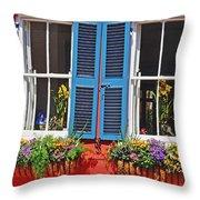 Charleston Windows Throw Pillow