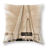 Charleston's Arthur Ravenel Jr. Bridge Throw Pillow