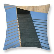 Charleston's Cable Bridge Geometric Abstract Throw Pillow