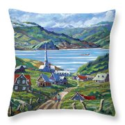 Charlevoix Scene Throw Pillow