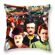 Charlie And Friends Tries To Blend In With The Crowd 5d23867 Throw Pillow