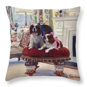 Charlie And Lizzie Throw Pillow