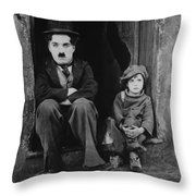 Charlie Chaplin 1921 Throw Pillow