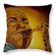 Charlie Parker-legends Of Jazz Throw Pillow