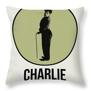Charlie Poster 1 Throw Pillow by Naxart Studio