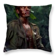 Charlie Sheen In Platoon Throw Pillow