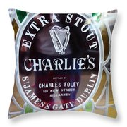 Charlie's Own Throw Pillow