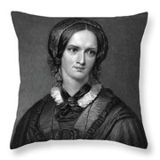 Charlotte Bront� (1816-1855) Throw Pillow