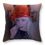 Charlotte Choosing A Hat Throw Pillow