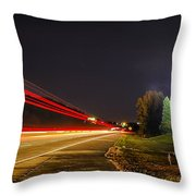 Charlotte City Airport Entrance Sculpture Throw Pillow