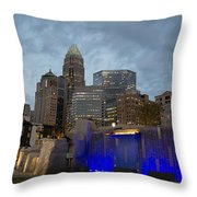 Charlotte City Lights Throw Pillow by Serge Skiba