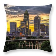 Charlotte Dusk Throw Pillow by Chris Austin