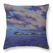 Charlotte Harbor Sunset Throw Pillow