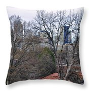 Charlotte In Waiting For Her Blossoms Throw Pillow