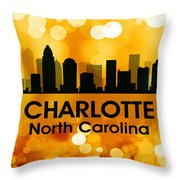 Charlotte Nc 3 Throw Pillow