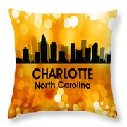Charlotte Nc 3 Squared Throw Pillow