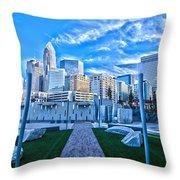 Charlotte Nc Usa - Charlotte Skyline  Throw Pillow