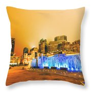 Charlotte Nc Usa - Charlotte Skyline Near R Throw Pillow