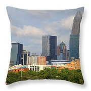 Charlotte Panorama II Throw Pillow by Gene Berkenbile