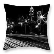 Charlotte Flow B/w Throw Pillow