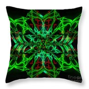 Charlotte's New Freakin' Awesome Neon Web Throw Pillow