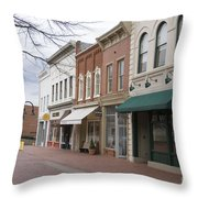 Charlottesville Virginia Downtown Mall Throw Pillow