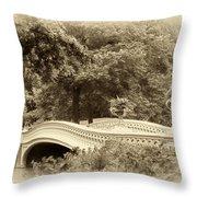 Charm Of Bow Bridge Throw Pillow