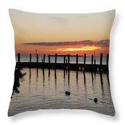 Charming Eveninglight Over Key Largo Throw Pillow