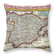 Charming Old World Map Throw Pillow