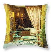 Charming Street Still Life Throw Pillow