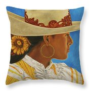 Charra Bonita Throw Pillow