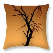 Charred Silhouette Throw Pillow