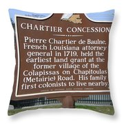 Chartier Concession Throw Pillow
