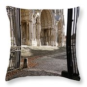 Chartres Cathedral North Transept Throw Pillow